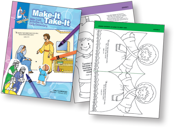 Sunday school lessons for children Bible-in-Life early-elementary make-it-take-it